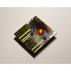 Insolente18158 - bijou fantaisie aimanté - circuit imprimé vert
