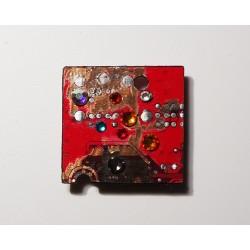 Insolente18159 - bijou fantaisie aimanté - circuit imprimé vert