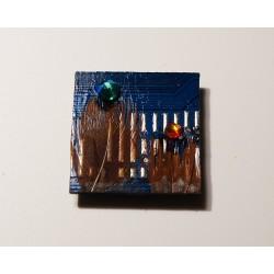 précieuse18160 - bijou fantaisie aimanté - circuit imprimé rouge