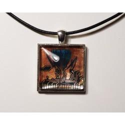libertine 18167 - pendentif bijou fantaisie - circuit imprimé cuivré
