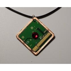 Insolente 18169 - pendentif bijou fantaisie - circuit imprimé vert