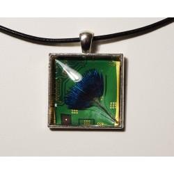 Insolente 18171 - pendentif bijou fantaisie - circuit imprimé vert