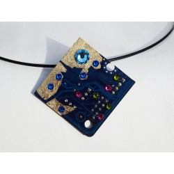 Insolente 18131 - pendentif bijou fantaisie - circuit imprimé vert