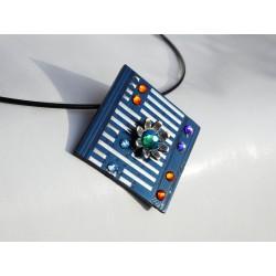furtive18176 - pendentif bijou fantaisie - circuit imprimé bleu