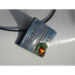 furtive18177 - pendentif bijou fantaisie - circuit imprimé bleu
