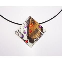 imperieuse18182 - pendentif bijou fantaisie - circuit imprimé blanc