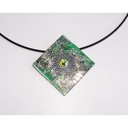 insolente18186 - pendentif bijou fantaisie - circuit imprimé vert