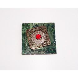 insolente18188 - pendentif bijou fantaisie - circuit imprimé vert