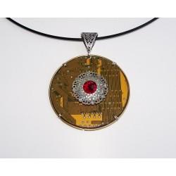 capricieuse18190 - pendentif bijou fantaisie - circuit imprimé doré